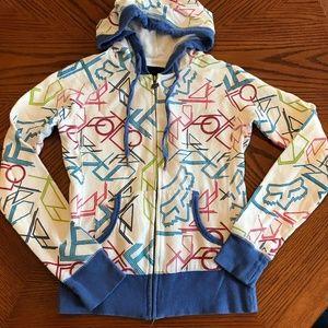 Fox Zip-up Sweatshirt Hoodie Lightweight Size S